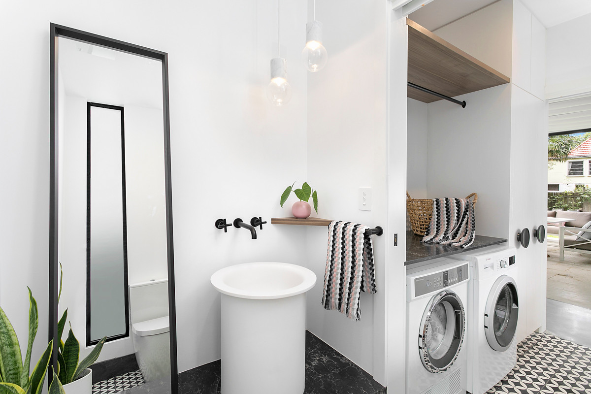 Petersham renovation laundry powder room