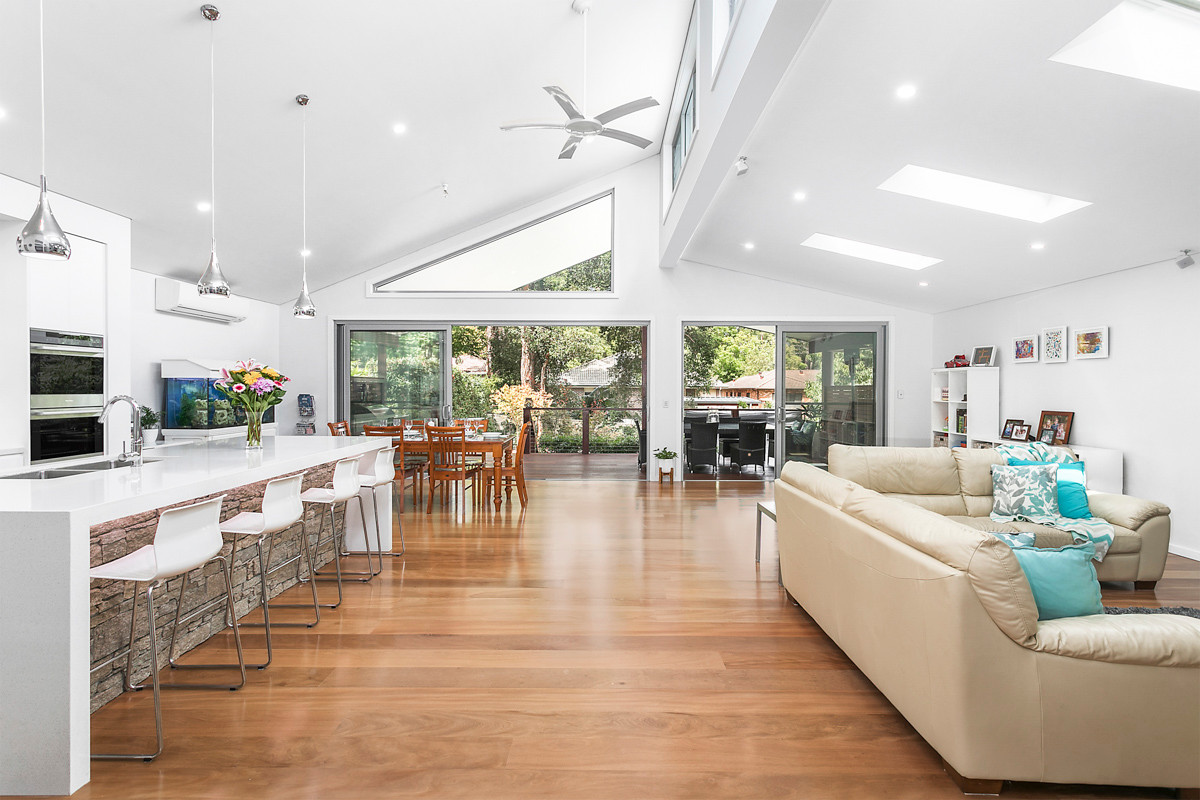 Kitchen living - Heathcote renovation by Shire Build