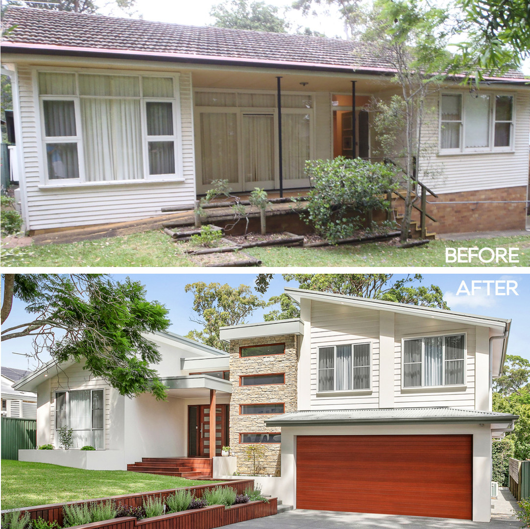 Heathcote before and after by Shire Build