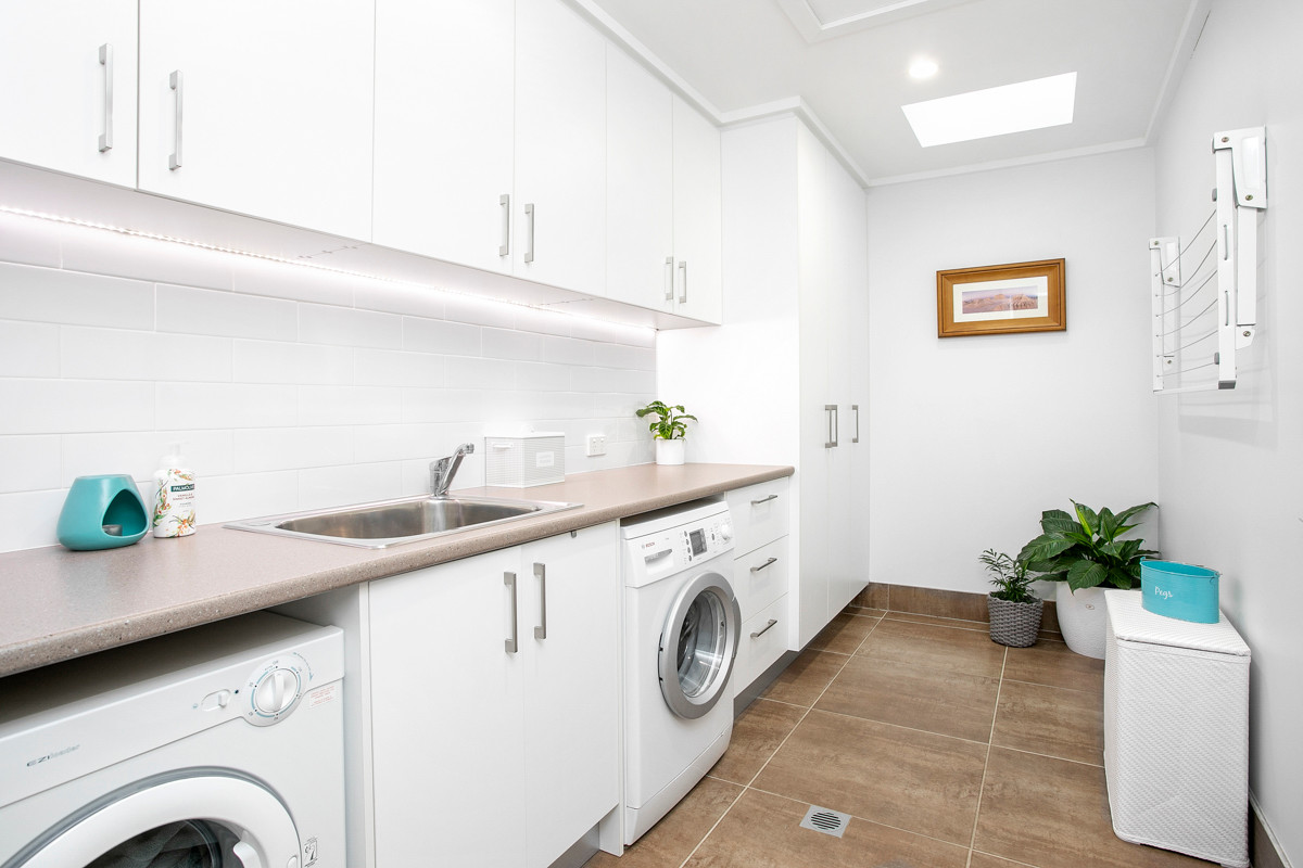 Laundry - Heathcote renovation by Shire Build