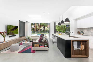 Petersham kitchen & living with polished
