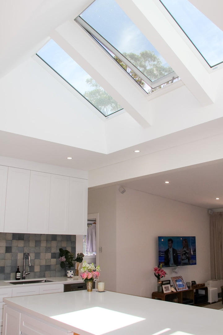 Velux skylights in Como Kitchen Renovation - Shire Build