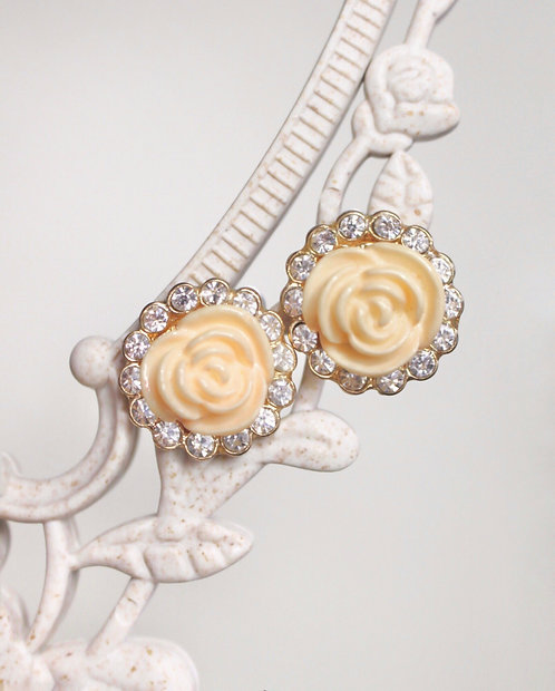 Rose Tenderness Lux Vintage Earrings