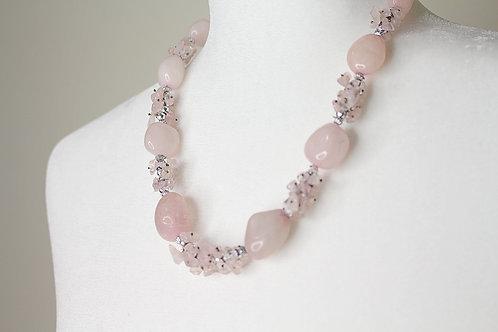 Rose Quartz Vintage Necklace