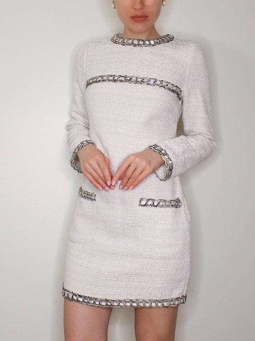 KOBALIYA Tweed Dress, Size S