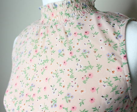 1950s Inspired Floral Delicate Top