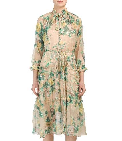 Midi Noble Dress in Floral