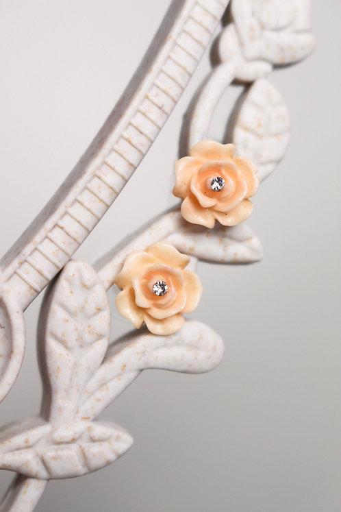 Rose Tenderness Vintage Earrings