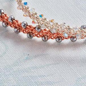 Kumihimo wirework bracelet