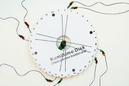 Beaded hedgehog kumihimo bracelet setup
