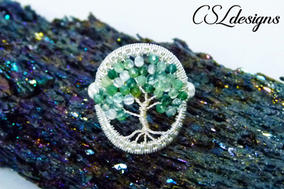 Tree of life wirework ring front stone.j