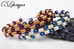 Beaded coils wirework bracelet 2.jpg