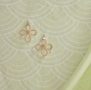 Kumihimo wirework celtic earrings