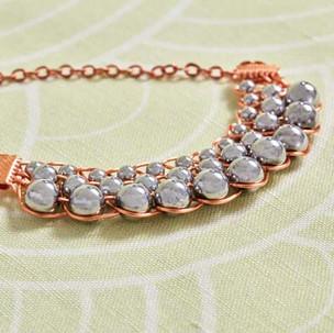 Kumihimo wirework collar necklace