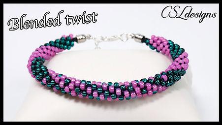 Blended twist beaded kumihimo bracelet t