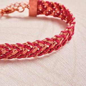 Kumihimo wirework chevron bracelet