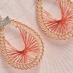 Kumihimo wirework sunrise earrings