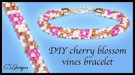 Cherry blossom vines beaded kumihimo bra