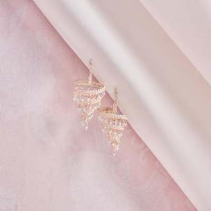 Kumihimo wirework chandelier earrings