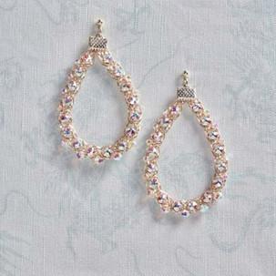Kumihimo wirework earrings