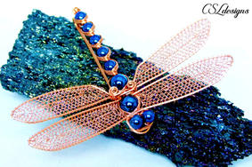 Wirework dragonfly brooch copper.jpg