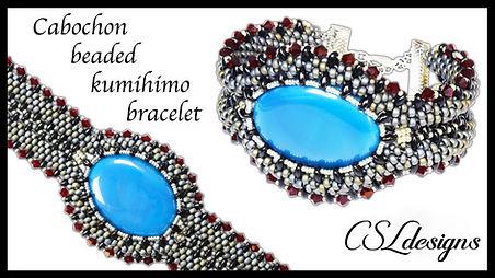 Embellished captured cabochon beaded kum