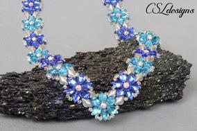 Starry diamonds beaded necklace 3.jpg