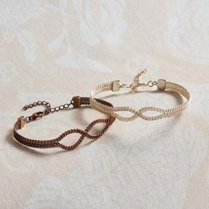 Kumihimo wirework infinity bracelet