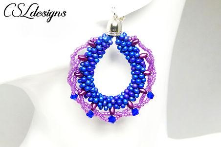 Laced beaded kumihimo earrings thumbnail