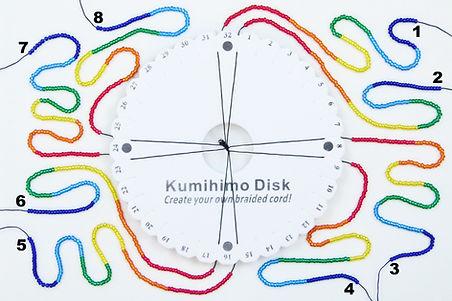 Rainbow beaded kumihimo necklace bead se