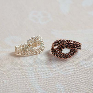 Kumihimo wirework infinity ring