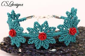 Roses and leaves macrame bracelet 3.jpg
