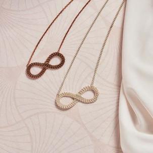 Kumihimo wirework infinity necklace