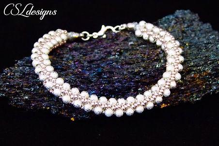 Elegant beaded kumihimo bracelet thumbna
