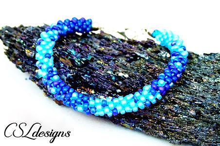 Ombre beaded kumihimo bracelet thumbnail