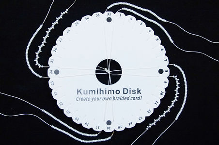 Kisses beaded kumihimo bracelet setup.jp