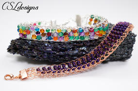 Flat beaded wire knitted bracelet 1.jpg
