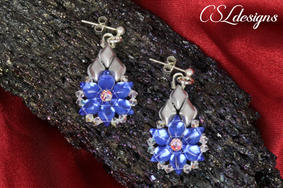 Starry diamonds beaded earrings 1.jpg