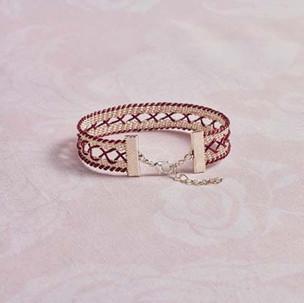 Kumihimo wirework corset bracelet
