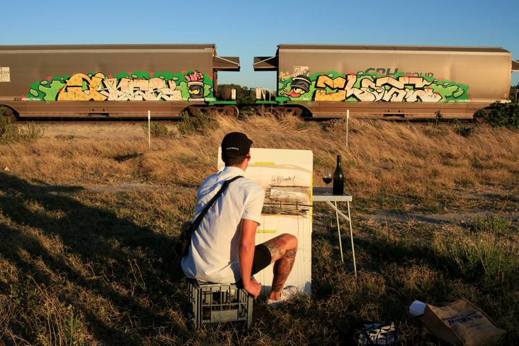 John Kaye painting a still life
