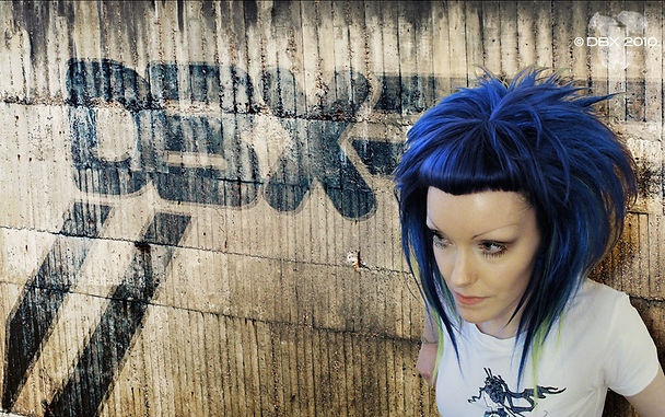 Blue Wig Fashion Alternative Styling
