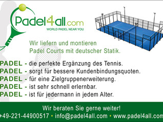 """Padel4all.com in """"DTZ - Deutsche Tennis Zeitung"""""""