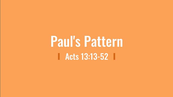 05/31 Primacy of Paul