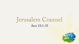 6/07 Jerusalem Counsel