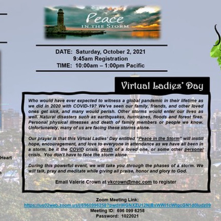 Peace in the Storm - Virtual Ladies Day
