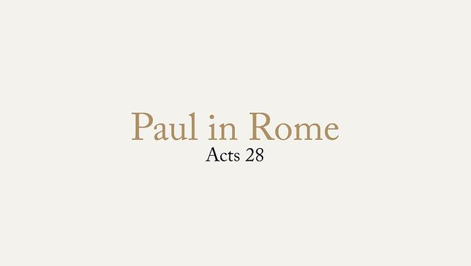 06/28 Paul in Rome