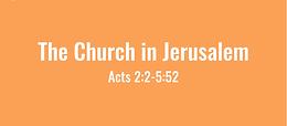 4/19 Jerusalem Church