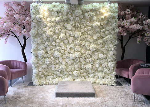 3D Ivory Flower Wall