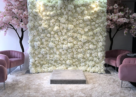 3D Ivory Flower Wall no Panels