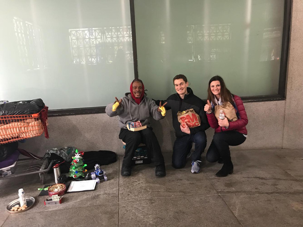 Delivery of Christmas Care Packages